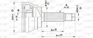 TêTE DE CARDAN FORD ESCORT '81 EXPRESS 1.6 D,ESCORT '86 EXPRESS 1.1,1.6 D,1.8 D