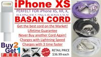 10' iPhone Xs/Xr/X/8/7/6 3X Faster Charging Cable 3M LIFETIME NEVER BUY AGAIN