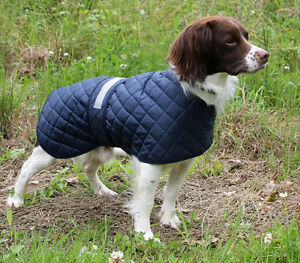 SAFETY ANORAK LIGHTWEIGHT QUILTED DOG COAT - MADE IN THE UK.