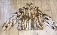NWT Adrienne Landau Natural Rabbit Front Hook 100% Fur Coat/Jacket/Bolero SZ:MED
