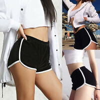 US Summer Ladies Sports Shorts Casual Beach Running Gym Yoga Women Hot Pants HL