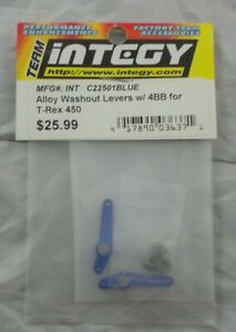 Align TRex T-Rex 450 Helicopter Blue Alloy Washout Levers w/Bearings C22501BLUE