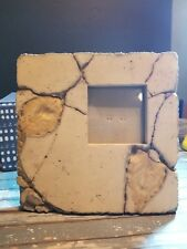 Slate/Stone Picture Frame with leaves imprint Rustic Decorative Natural Elements