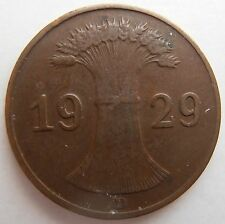 1929 GERMANY 1 PFENNIG D