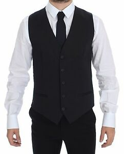DOLCE & GABBANA Blue Cotton Stretch Dress Vest Blazer IT46/ US36 / S