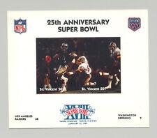 St Vincent #1417  Football Super Bowl XVIII 1v M/S of 2 Imperf Chromalin Proof