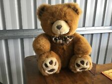 Teddy Bear 34cm Brown with Tartan Bow Tie PT Golden Bear Company