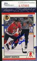 JEREMY ROENICK JSA COA Autograph 1991 SCORE rookie Authentic Hand Signed