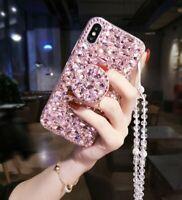 For LG Stylo 4 Luxury Bling Diamond Rhinestone 3D Case Cover & Kickstand & Strap