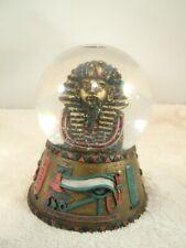 "Luxor Pharaoh Egypt Water Snow Glitter Globe 5 1/2"" Tall No Box"