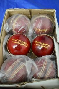 6 Red Cricket Balls