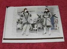 1973 Press Photo Irene Galitzen Suede and Opossum Fur
