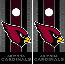 Arizona Cardinals Black Cornhole Wrap NFL Luxury Skin Board Set Vinyl Decal CO04