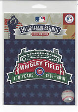 2014 Chicago Cubs Wrigley Field 100th Anniversary Patch MLB Jersey Logo Packaged