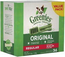 New listing Greenies Original Regular Natural Dental Dog Treats (25 - 50lb. dogs) - Fs