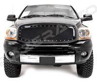 Black Packaged Mesh Grille+Rivet+Shell for 06-08 Dodge Ram 1500+06-09 RAM 2500+3