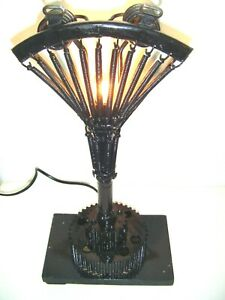 UpCycled Antique Vintage BIKE SEAT SADDLE Steampunk / Industrial Table Lamp