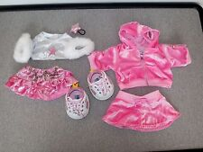 Build a Bear CLOTHES pINK & sILVER Star Shirt Skirt Velour Hoodie  Shoes Lot q12