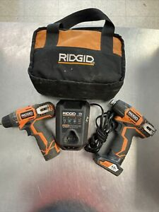 Ridgid 12-Volt Cordless 2 Speed Drill/Driver and Impact Driver Combo Kit Used