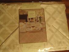 "7 Piece TABLE LINEN  BY LENOX TABLECLOTH 70"" by 86"" & 6 NAPKINS IVORY WATER REPL"