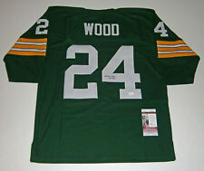 PACKERS Willie Wood signed green jersey w/ HOF89 JSA COA Autographed Green Bay