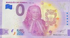 BILLET 0  EURO MARQUES DE POMPAL PORTUGAL  2021 NUMERO DIVERS