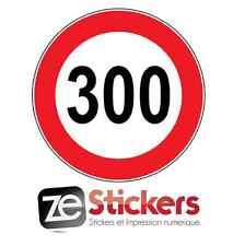 Sticker Speed limite 300 vitesse limitée autobahn auto moto