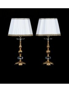 Desk Lights Bedside Lamp Classic Brass Gold Antique Lampshade Tp 136-LP1-01