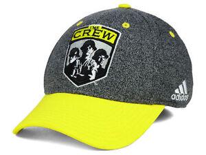 Columbus Crew SC Stretch Fit adidas MLS Team Logo Soccer Cap Hat Yellow & Gray