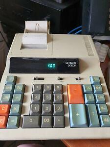 Citizen 129DP Printing Calculator Adding Machine Desktop Mains Operated Japan