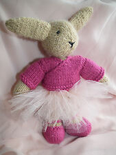 Knitted Ballerina Bunny, Handmade soft toy (311-0316)