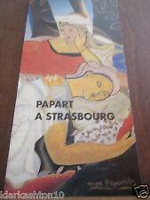 Papart à Strasbourg, plaquette pour l'exposition de 1997