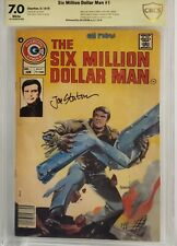 SIX MILLION DOLLAR MAN #1 CBCS 7.0 SS SIGNED JOE STATON WHITE PAGES NOT CGC