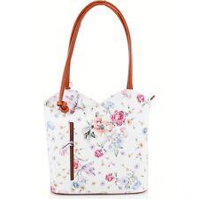 Womens Designer Real Italian Leather Shoulder Bucket Backpack VERA PELLE Handbag