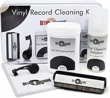RETRO MUSIQUE Vinyl LP Record Cleaning Kit Gift Tin Case & Accessories FAST POST