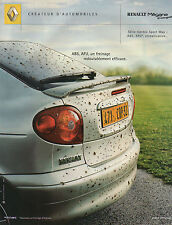 Publicité Advertising 2001  RENAULT Mégane Coupé