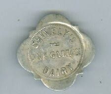 Unusual Vintage Shively's Dairy, Good For One Gallon Token