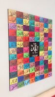 "Beautiful ISLAMIC CANVAS HANDPAINTED CALLIGRAPHY ART 99 ALLAH Name 32"" 40"" Eid G"