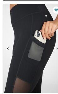Fabletics Black Mila High Waisted Pocket Capri Legging Size M and L