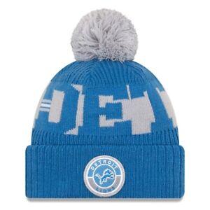 2020 Detroit Lions New Era Knit Hat On Field Sideline Beanie Stocking Cap