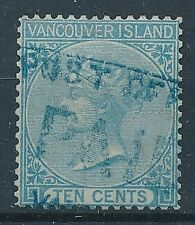 [7192] Vancouver Isl. 1865 good stamp very fine used. CC Crown WTMK