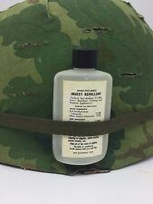 USGI Vietnam Insect Repellent Bottle Repro M1 Helmet USMC US Army 1966