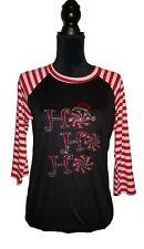 Womens 3/4 sleeve HoHoHo Christmas shirt S, M, L, XL, 2X, 3X