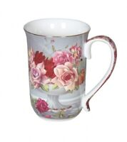 Serenity Rose 405cc Mug Fine Bone China Coffee Tea Cup Mug  Xmas Gift