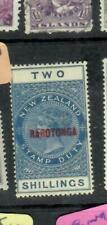 COOK ISLANDS  (PP3006B)  ON NZ QV POTAL FISCAL 2/-  SG 76   MOG