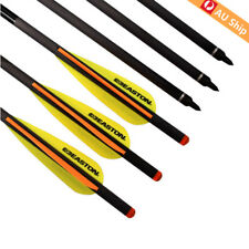 """12X 20"""" Crossbow Bolts Carbon Arrows Easton Vanes Hunting Shooting Practice"""