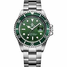 Reginald Homage Watch Silver Green Man Smart Watches Designer Present UK