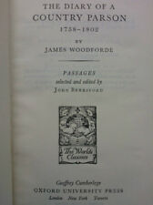 JAMES WOODFORDE.THE DIARY OF A COUNTRY PARSON 1758-1802.BERESFORD.H/B OXFORD 53