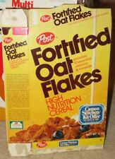 1978 POST FORTIFIED OAT FLAKES -OLD VINTAGE CEREAL BOX FREE SHIPPING !!