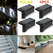 4PCS LED Solar Path Stair Outdoor Light Garden Fence Landscape Lamp Lights Decor